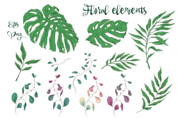 Print on Demand: Orchids Floral Arrangements Vector Set Graphic Illustrations By nicjulia - Image 8