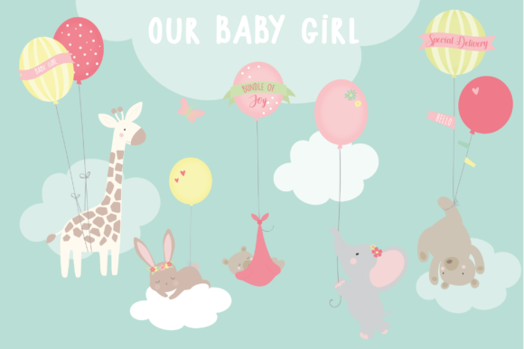 Print on Demand: Our Baby Girl Graphic Illustrations By poppymoondesign
