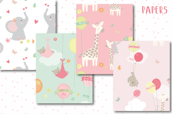 Download Free Our Baby Girl Papers Graphic By Poppymoondesign Creative Fabrica SVG Cut Files