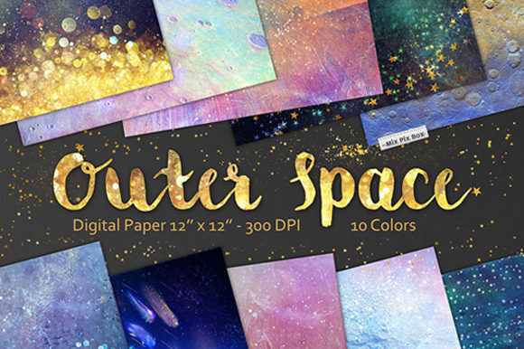 Download Free Outer Space Backgrounds Graphic By Mixpixbox Creative Fabrica for Cricut Explore, Silhouette and other cutting machines.