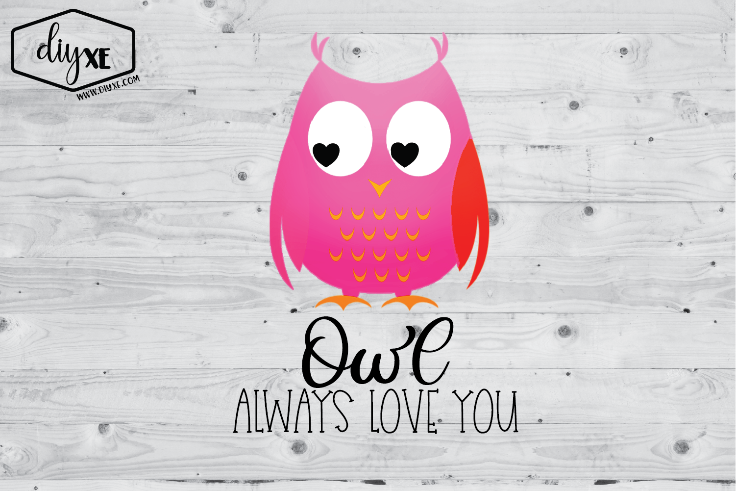 Download Free Owl Always Love You Graphic By Sheryl Holst Creative Fabrica for Cricut Explore, Silhouette and other cutting machines.