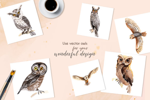 Download Free Owl Watercolor Graphic By Mystocks Creative Fabrica for Cricut Explore, Silhouette and other cutting machines.