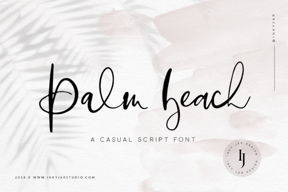 Download Free Palm Beach Script Font By Inkyjar Creative Fabrica for Cricut Explore, Silhouette and other cutting machines.
