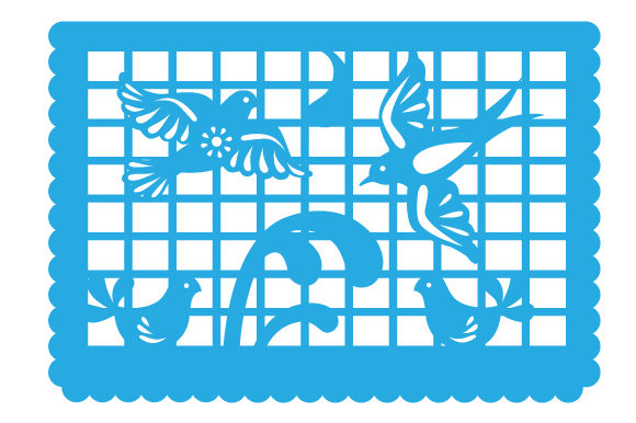 Papel Picado Birds Picado Craft Cut File By Creative Fabrica Crafts - Image 1