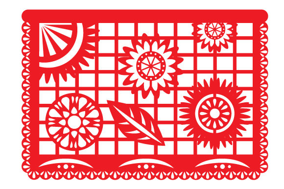 Papel Picado Flowers Picado Craft Cut File By Creative Fabrica Crafts