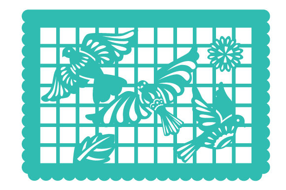 Download Free Papel Picado Flying Birds Svg Cut File By Creative Fabrica for Cricut Explore, Silhouette and other cutting machines.