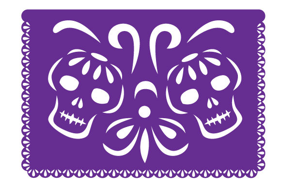 Download Free Papel Picado Skulls Svg Cut File By Creative Fabrica Crafts for Cricut Explore, Silhouette and other cutting machines.