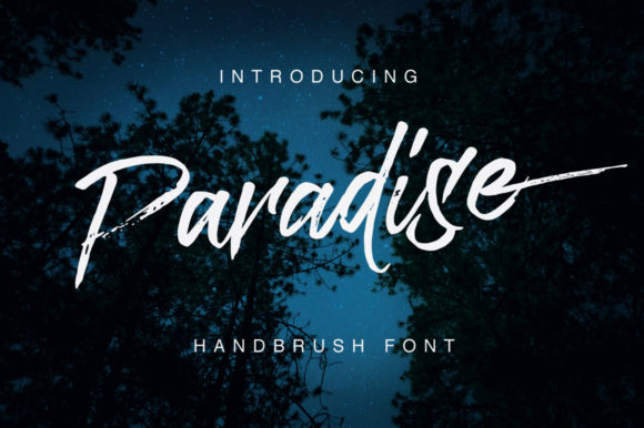 Print on Demand: Paradise Script & Handwritten Font By QueenType