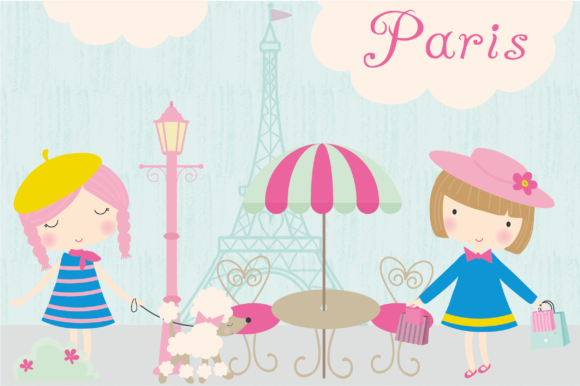 Print on Demand: Paris Clipart Graphic Illustrations By poppymoondesign