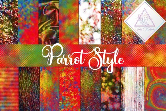 Print on Demand: Parrot Style Digital Paper Graphic Textures By fantasycliparts