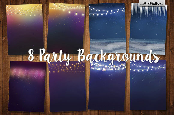 Print on Demand: Party Backgrounds Graphic Backgrounds By MixPixBox - Image 1