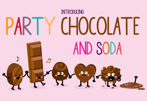 Print on Demand: Party Chocolate and Soda Sans Serif Font By Docallisme