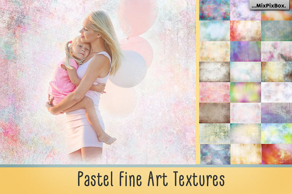 Print on Demand: Pastel Fine Art Textures Graphic Textures By MixPixBox - Image 1