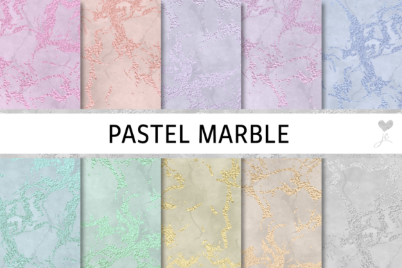 Print on Demand: Pastel Marble Graphic Textures By JulieCampbellDesigns