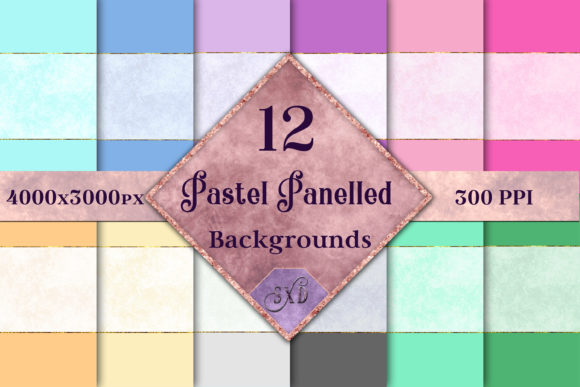 Print on Demand: Pastel Panelled Backgrounds Graphic Backgrounds By SapphireXDesigns