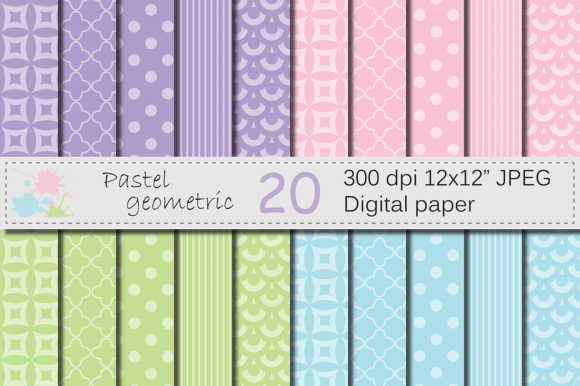 Download Free Pastel Patterns Graphic By Vr Digital Design Creative Fabrica for Cricut Explore, Silhouette and other cutting machines.