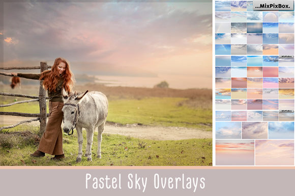 Print on Demand: Pastel Sky Photo Overlays Graphic Layer Styles By MixPixBox