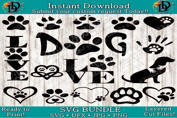 Download Free Paw Print Dog Graphic By Dynamicdimensions Creative Fabrica for Cricut Explore, Silhouette and other cutting machines.