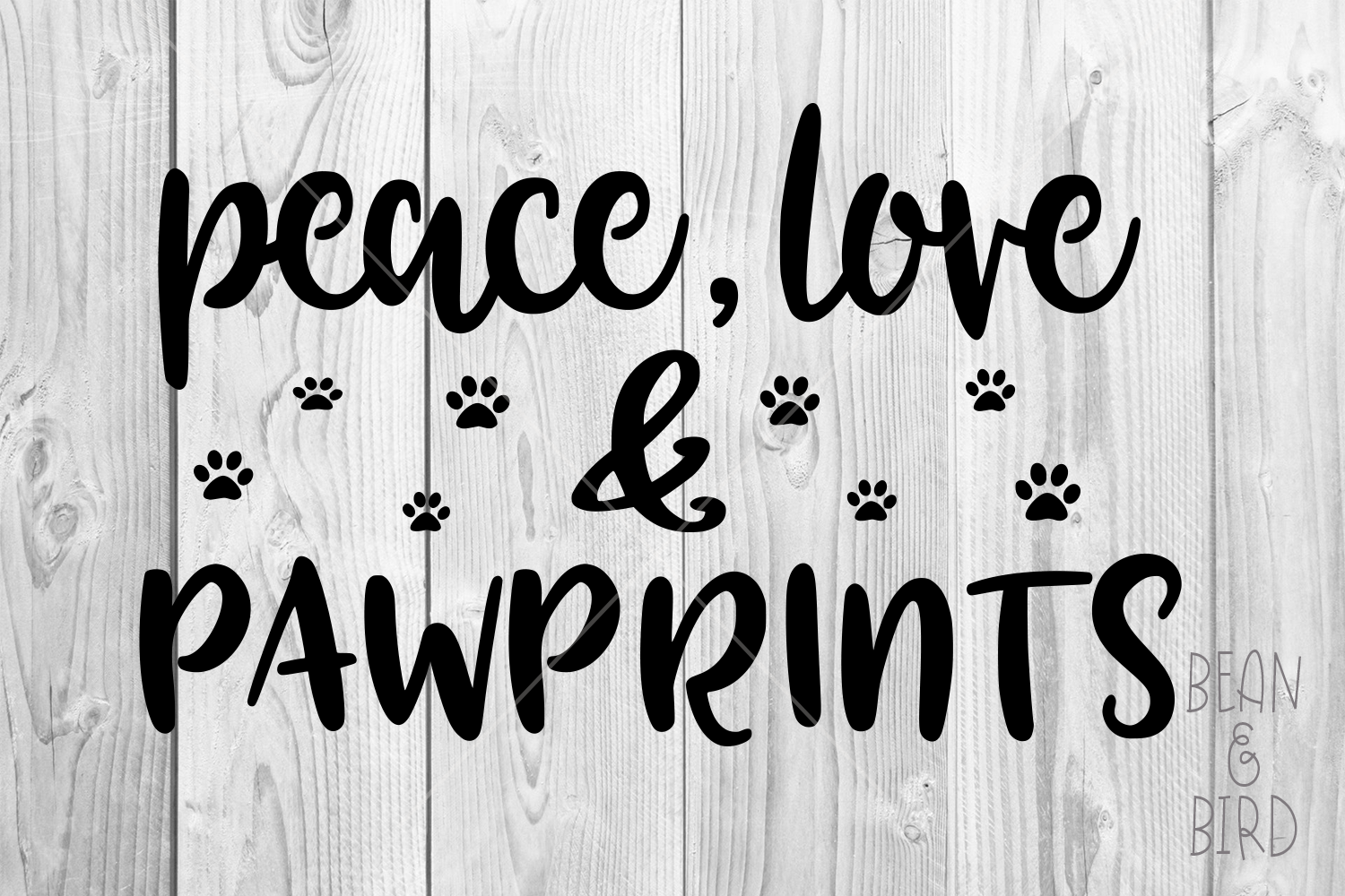 Download Free Peace Love Pawprints Graphic By Jessica Maike Creative Fabrica for Cricut Explore, Silhouette and other cutting machines.