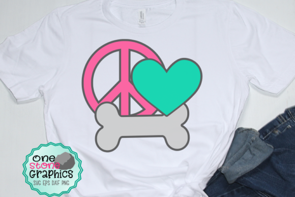 Download Free Peace Love Dog Svg Graphic By Onestonegraphics Creative Fabrica for Cricut Explore, Silhouette and other cutting machines.