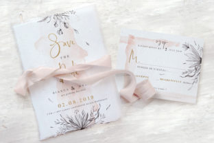 Download Free Peach Grey Floral Wedding Suite Graphic By Blue Robin Design for Cricut Explore, Silhouette and other cutting machines.