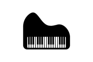 Download Free Piano Music Icon Vector Graphic By Hoeda80 Creative Fabrica for Cricut Explore, Silhouette and other cutting machines.