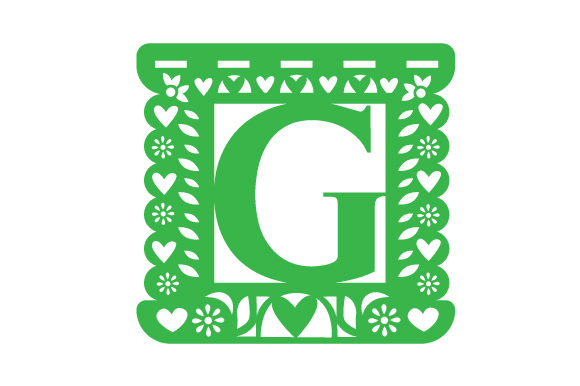 Papel Picado Alphabet G Picado Craft Cut File By Creative Fabrica Crafts