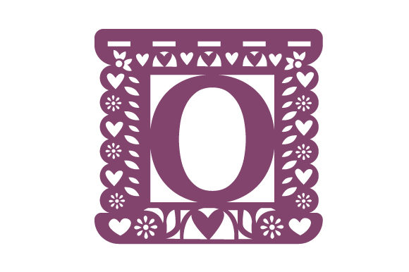 Download Free Papel Picado Alphabet O Svg Cut File By Creative Fabrica Crafts for Cricut Explore, Silhouette and other cutting machines.