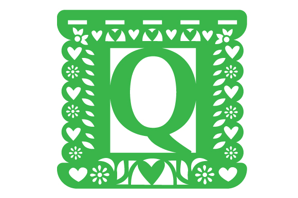 Download Free Papel Picado Alphabet Q Svg Cut File By Creative Fabrica Crafts for Cricut Explore, Silhouette and other cutting machines.