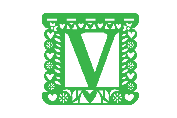 Download Free Picado Alphabet V Svg Cut File By Creative Fabrica Crafts for Cricut Explore, Silhouette and other cutting machines.