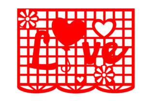Papel Picado Flag Design with the Word Love Picado Craft Cut File By Creative Fabrica Crafts
