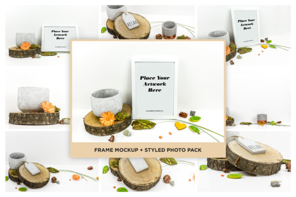 Picture Frame Mockup + Styled Photo Pack Gráfico Mockups de Productos Por dumitrasconiu.design