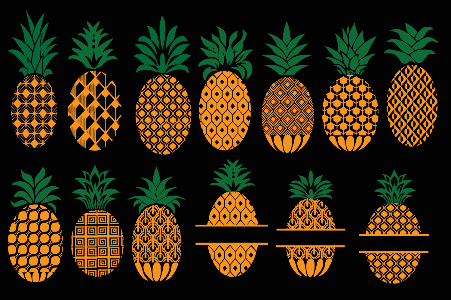 Download Free Pineapple Graphic By Johanruartist Creative Fabrica for Cricut Explore, Silhouette and other cutting machines.
