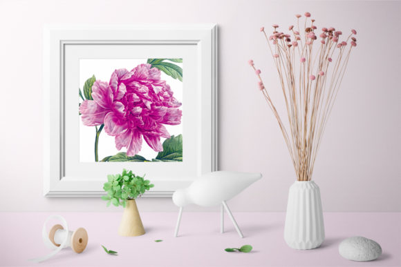 Pink Mountain Peony Graphic Illustrations By Enliven Designs - Image 2