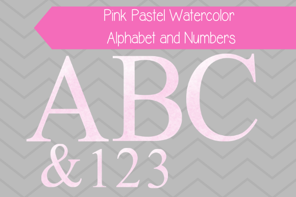 Print on Demand: Pink Pastel Watercolor Alphabet Graphic Illustrations By jpjournalsandbooks