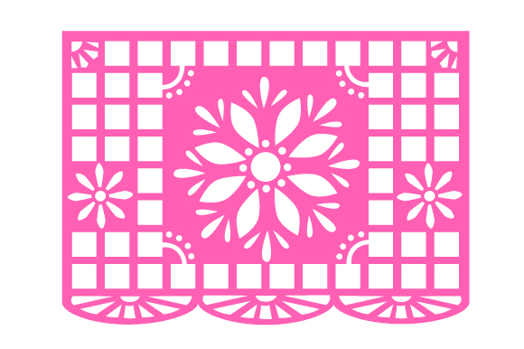 Download Free Papel Picado Flag Design With Flowers Svg Cut File By Creative for Cricut Explore, Silhouette and other cutting machines.
