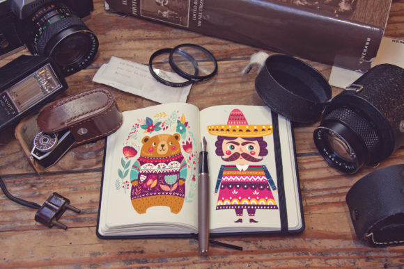 Pocket Notebook Diary Graphic Product Mockups By SmartDesigns