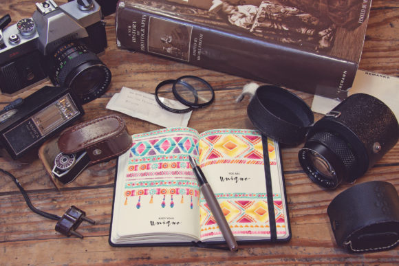 Pocket Notebook Writing Graphic Product Mockups By SmartDesigns