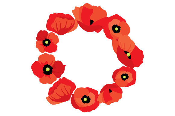 Download Free Poppy Wreath Svg Cut File By Creative Fabrica Crafts Creative for Cricut Explore, Silhouette and other cutting machines.