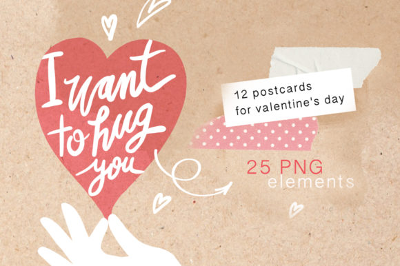 Postcards Valentine Day Graphic By Sto Va Creative Fabrica