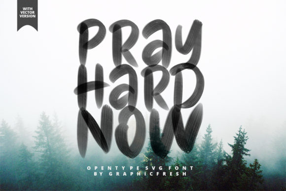 Print on Demand: Pray Hard Now Color Fonts Font By Sameeh Media
