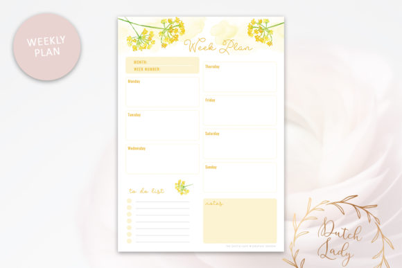 Print on Demand: Printable Planner Pack Graphic Print Templates By daphnepopuliers - Image 3