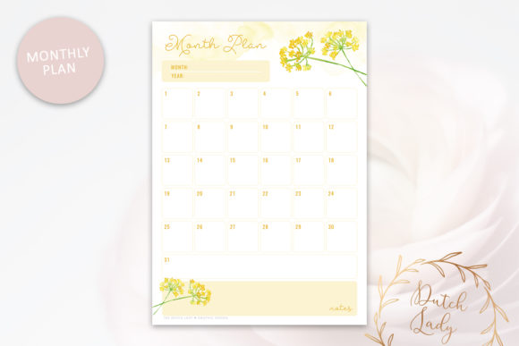 Print on Demand: Printable Planner Pack Graphic Print Templates By daphnepopuliers - Image 4