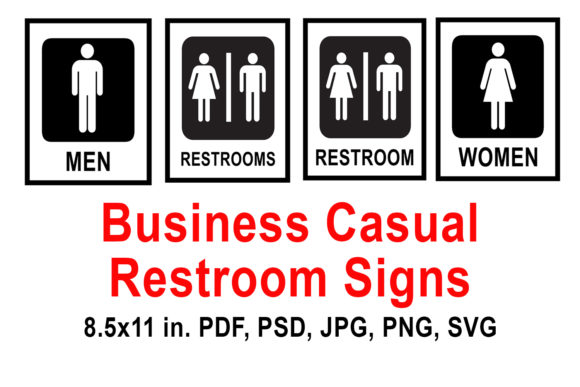 Download Free Printable Restroom Signs Graphic By Quiet Deluxe Digital for Cricut Explore, Silhouette and other cutting machines.