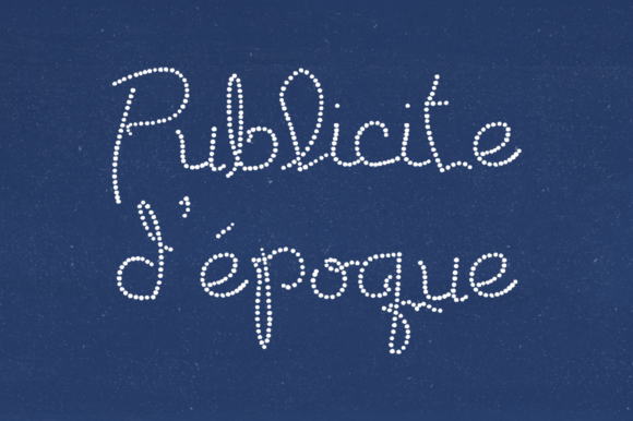 Print on Demand: Publicite D'epoque Decorative Font By laurenashpole
