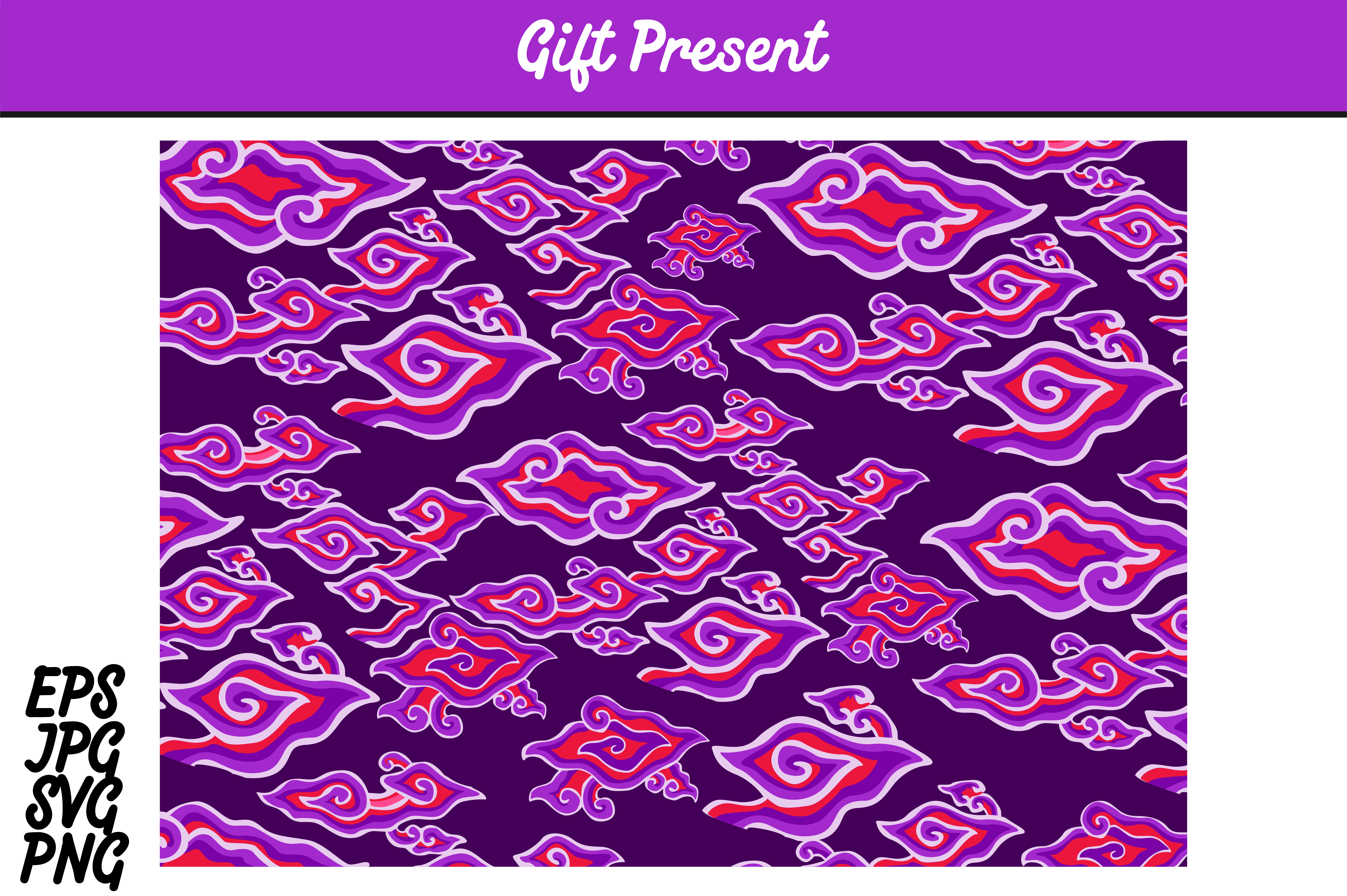 Download Free Purple Batik Cirebon Mega Mendung Indonesia Set Svg Vector Image for Cricut Explore, Silhouette and other cutting machines.