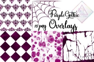 Purple Gothic Overlays Clipart Graphic By fantasycliparts