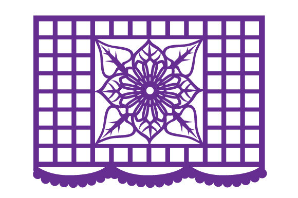 Download Free Papel Picado Flag Design With A Flower Mandala Svg Cut File By for Cricut Explore, Silhouette and other cutting machines.