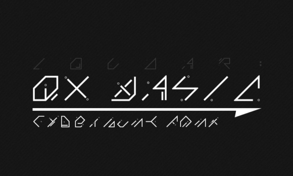 Print on Demand: QX Basic Display Font By Alexander Fritsch