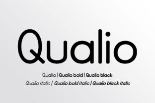 Qualio Family Font By bbakey
